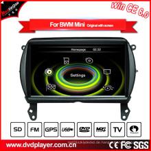 Hualingan Auto DVD Spieler GPS Navigation für BMW Mini Bluetooth MP3 / MP4 Spieler Fernsehapparat