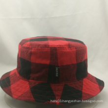 high quality fashionable bucket hat,checked fisherman hat
