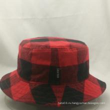 Высококачественная модная ведро шляпа, проверенная шляпка рыбака