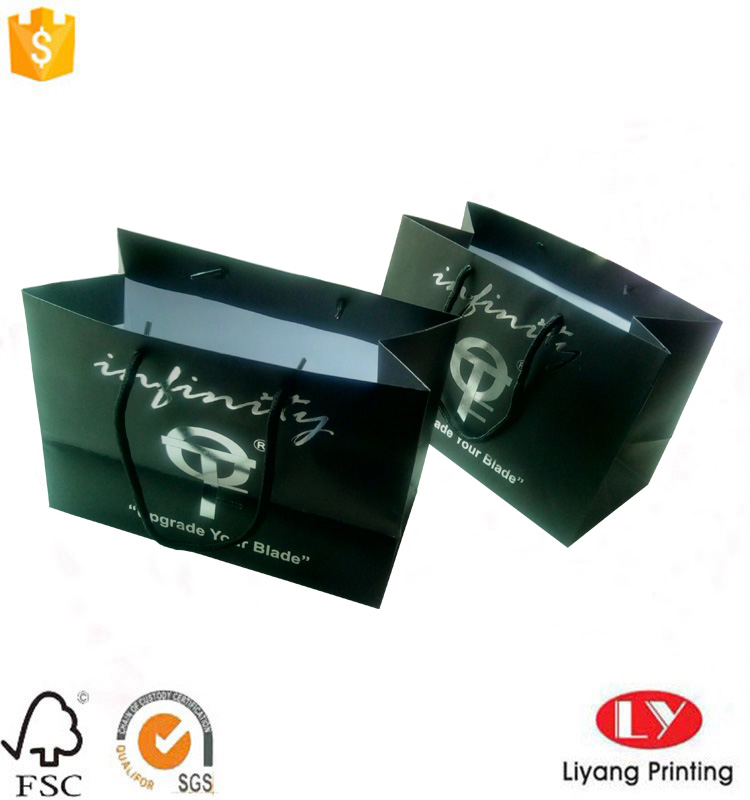 black paper packaging bag