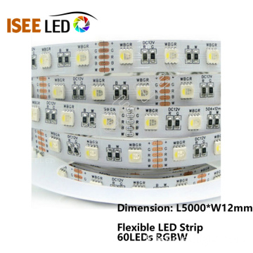 60Leds / m lumières de bande flexibles de SMD5050 LED