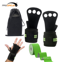Тренажерный зал Спорт перчатки с поддержкой запястья пользовательские Вес поднимаясь перчатки