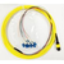 Livraison gratuite 3 mètres MPO / MTP SM LC FTTH Câble de raccordement à fibre optique à câble
