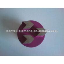 Arrow Diamond plugs for epoxy flooring tools