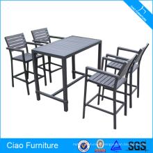 Bar Furntiure Table et chaise hautes en plastique et bois