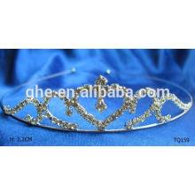 Новый модный оптовый rhinestone модный корейский тип короны тиары