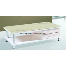 Modern Popular Hot Selling MDF Wood Glass Coffee Table