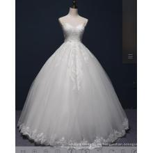 Vestido de boda nupcial rebordear bola del cordón