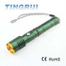 Casque de lampe de poche à la batterie 18650 haute qualité