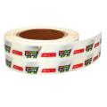 Rollo de etiqueta adhesiva personalizada Impresión de etiquetas de lámina dorada