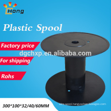 empty plastic cable spool for wire snap hook design