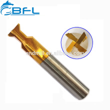 Cortador do moinho de extremidade de Dovetail da flauta do carboneto 3 de BFL, cortador de trituração do CNC