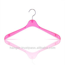 Luxury Plastic Hanger in Clear Peach Color for Hotel Equipment