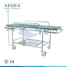 AG-HS015 material de acero inoxidable, transferencia de pacientes, hospital, médico, habitación, camilla