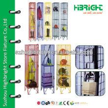 two tier mesh storage lockers