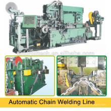 Máquina de solda a topo para fabricação de correntes
