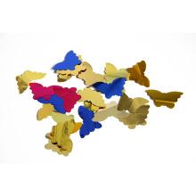 Китайский Производитель Оптовая продажа форме бабочки Лавсановой конфетти для партии украшения