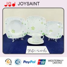 18PCS Abziehbild-Porzellan-Quadrat-Form-Nahrungsmittelplatten-Gebrauch für Haupthotel