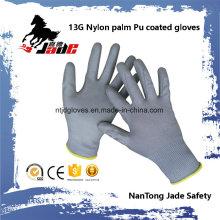 13G Polyester Palm Gart PU Überzogener Handschuh En 388 4131