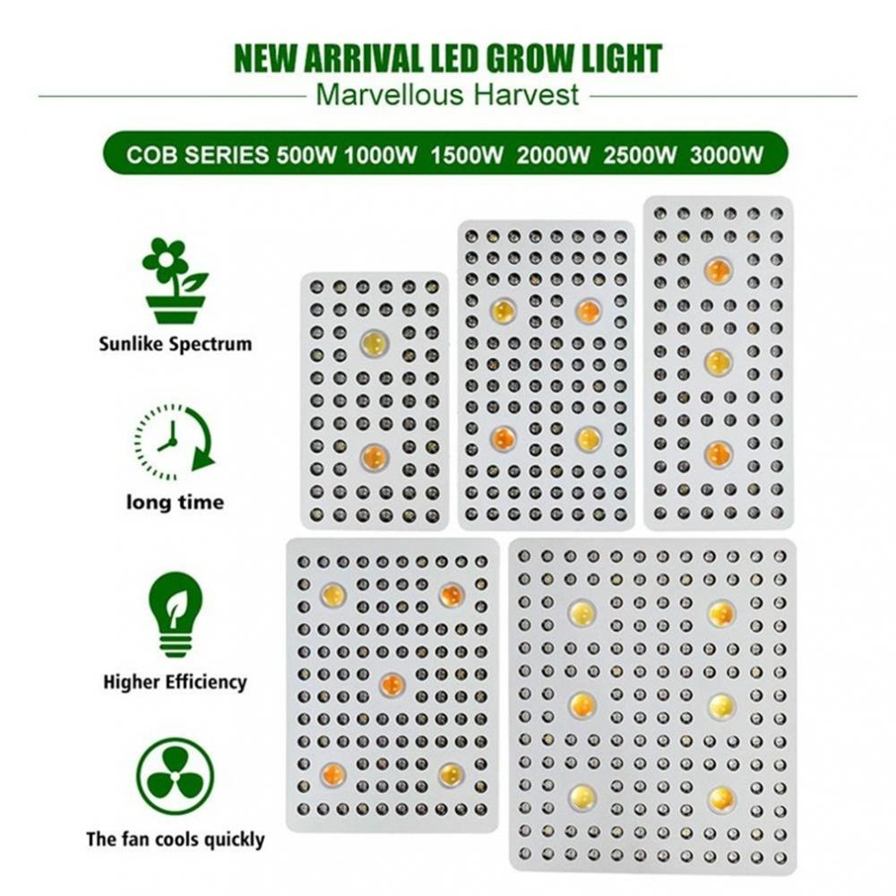 3000w Cree Cob Grow Light Full Spectrum