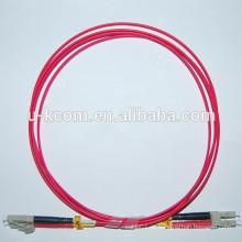 LC / LC Duplex MM Fibra Óptica Patch Cable