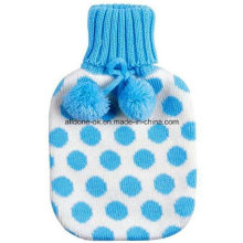 Knit Hot Water Bottle Cover Gold Member