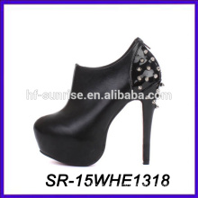 sexy boot ankle boot rivet leather women boot