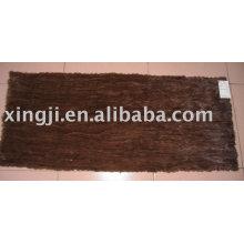 Color marrón natural Mink Belly Plate
