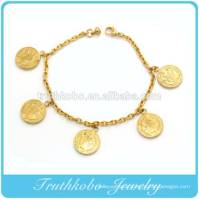 Newest Religious Accessories stainless steel charmed jewelry With 5 San Benito stamped Bracelet ,