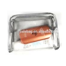 Новые популярные почувствовала прозрачный пластиковый прозрачный водонепроницаемый косметический сумки ПВХ оптом