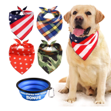 4Pcs Washable Dog Bandana