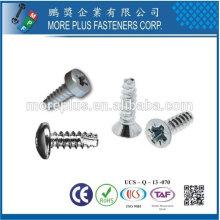 Taiwán Acero inoxidable 18-8 Acero cromado Acero niquelado Cobre Latón SAE J81 Taptite P Tite B Tite Tornillo de conformado