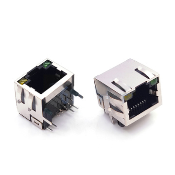 RJ45 SLIM TYPE RIGHT ANGLE DIP H = 11.2mm