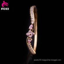 Gold Plated Zirconia Bangle High Fashion Bangles for Women