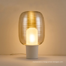 New best selling hotel lighting amber glass decorative led table lamp