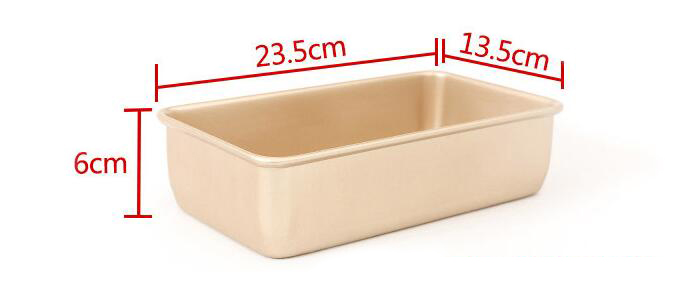 9'Golden Non-stick Rectangular Cake Mold (2)