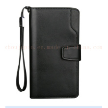 Zipper Leisure PU Hand Hold Male Business Phone Purse Wallet