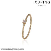 14709 Fashion jewelry 18k gold brass finger ring wholesale women's zircon single stone rings