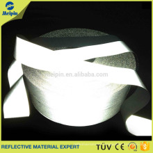white Reflective Color and Polyester Layer sew on reflective tape