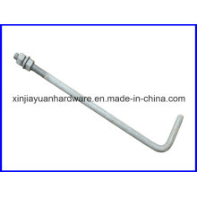 Galvanisé L Type / Pigtail Foundation Bolt for Construction