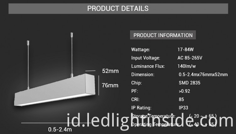 LED Linear Trunking Light
