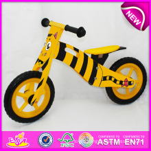2014 New Wooden Bicycle Toy for Kids, Lovely Design Wooden Bike Toy for Children, Cheap Wooden Toy Bicycle for Baby Factory W16c075