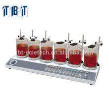 T-BOTA HJ-6A Multi-Unit-Thermostat Sechs Köpfe Digitalanzeige Rührwerk Magnetic Hotplate Stirrer