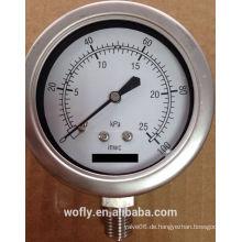 Edelstahl-Hochdruckmanometer für Erdgas