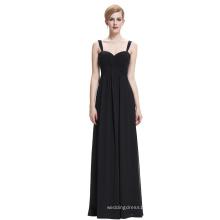 Starzz Sweetheart Sleeveless Black Chiffon Evening dress Long ST000065-1