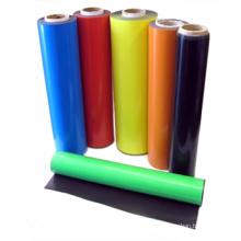 Imán de goma flexible colorido con PVC colorido