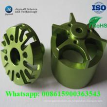 Shell de aluminio del pequeño motor personalizado con superficie de recubrimiento en polvo