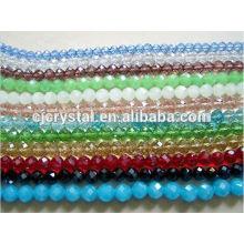 Cuentas de vidrio redondas para joyería de varios colores, cuentas de vidrio redondas