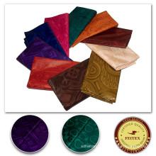 Tissu africain bon marché Bazin Riche fait main vêtements matériel Tissu mode coton nigérian tissu coton Textiles