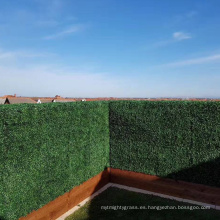 Jardinera de boj artificial impermeable de venta superior para el uso al aire libre